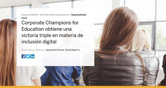 Corporate Champions for Education obtiene una victoria triple en materia de inclusión digital